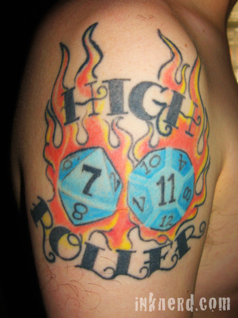 This tattoo inspired me to do a post with as many images of D&D dice as I